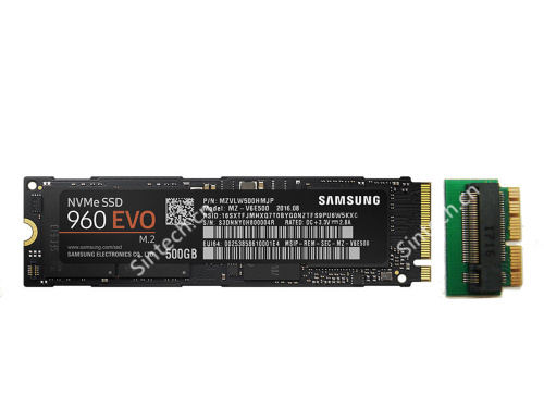 500GB M.2 Samsung 960 SSD Card as 2016-2017 MacBook SSD